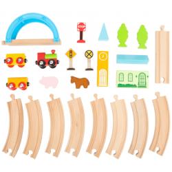 """Small Foot Petit train en bois """"ville et pays"""", Legler Small Foot Jeux et jouets en bois enfants"""