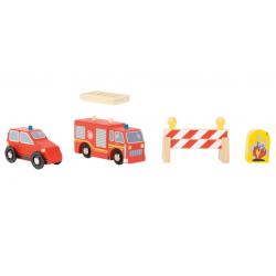 Small Foot Voiture et Camion de pompier, Small Foot Jeux et jouets en bois enfants