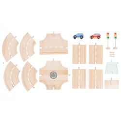 Small Foot Circuit voiture et ses accessoires, small foot , dès 3 ans. Jeux et jouets en bois enfants