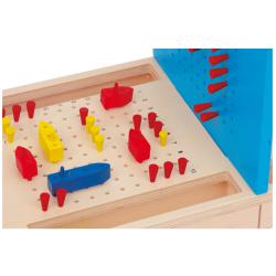 Small Foot Jeu de bataille navale, jeu de réflexion Jeux et jouets en bois enfants