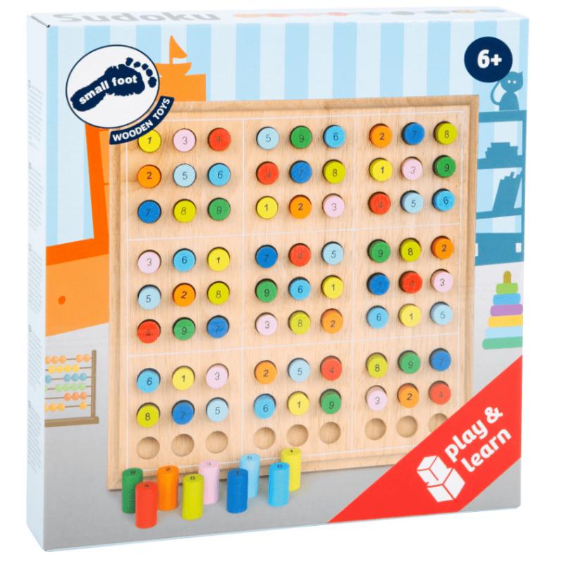 Small Foot Sudoku en bois, jeu de réflexion en bois Jeux et jouets en bois enfants