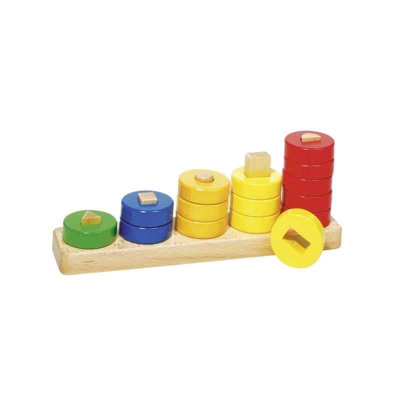 GOKI Jeu d'apprentissage en bois, formes, couleurs, chiffres Accueil