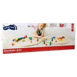 Small Foot Circuit de train en bois en, forme de huit. Trains en bois, circuits et accessoires trains