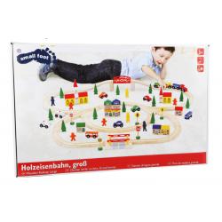 Small Foot Grand chemin de fer en bois composé de 100 pièces. Jeux et jouets en bois enfants