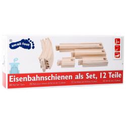 Small Foot Extension de réseau de petit train en bois, 12 pièces. Jeux et jouets en bois enfants