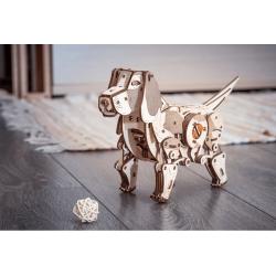 Eco Wood Art puzzle 3d mécanique en bois, le puppy Puzzles 3d en bois