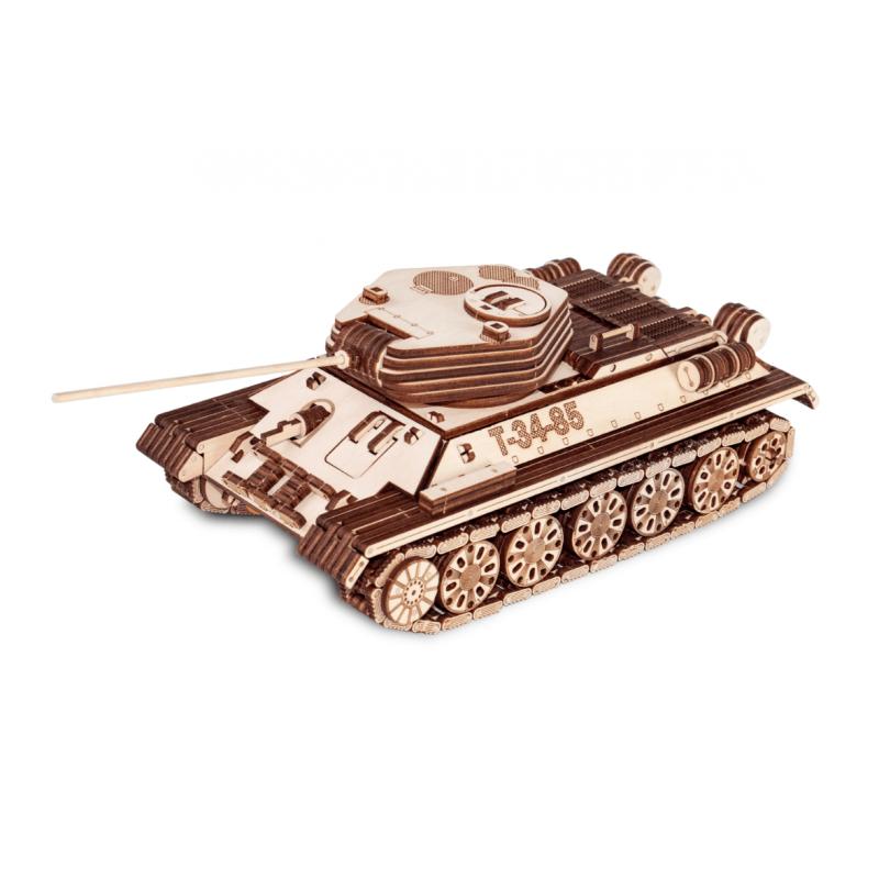 Maquette de tank russe en bois, T34-85