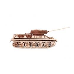Eco Wood Art Maquette de tank russe en bois, T34-85 Maquettes en bois