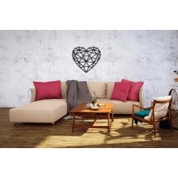Eco Wood Art Puzzle 3D en bois, un coeur, décoration murale Puzzles 3d en bois