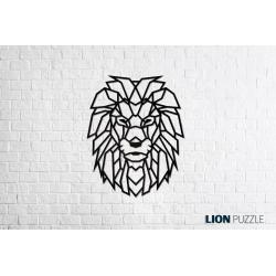 Eco Wood Art Puzzle 3d en bois, le Lion, décoration murale. Puzzles 3d en bois