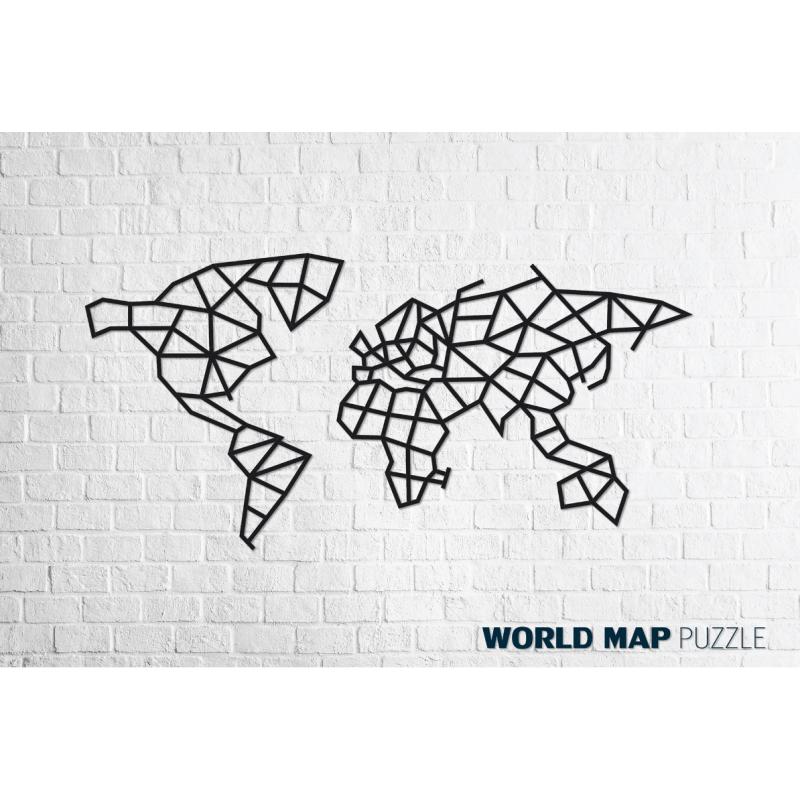 Puzzle 3d en bois, le monde, décoration murale.