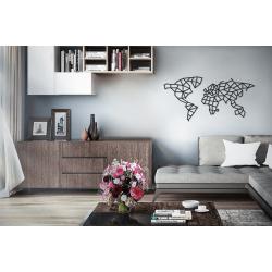 Eco Wood Art Puzzle 3d en bois, le monde, décoration murale. Puzzles 3d en bois