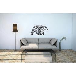 Eco Wood Art Puzzle 3d en bois, Ours polaire, décoration murale Puzzles 3d en bois