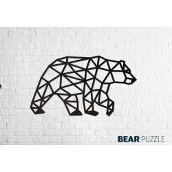 Puzzle 3d, ours polaire, décoration murale, ecowood art, 4815123000747