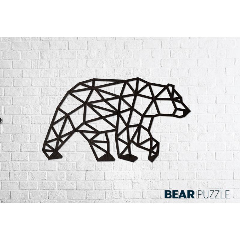 Puzzle 3d en bois, Ours polaire, décoration murale