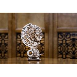 globe en bois de style steampunk, ecowood art, 4815123000723