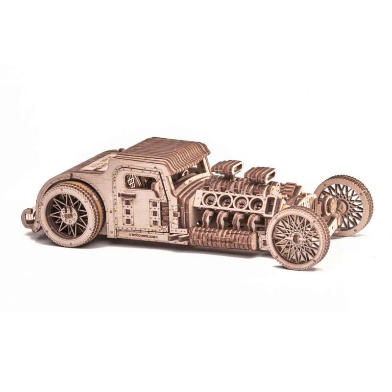 Maquette de hot road, en bois, mécanique