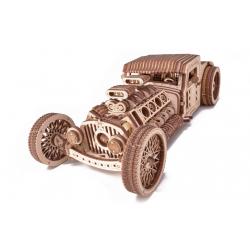 WOOD TRICK Maquette de hot rod, en bois, mécanique, Wood Trick VOITURES