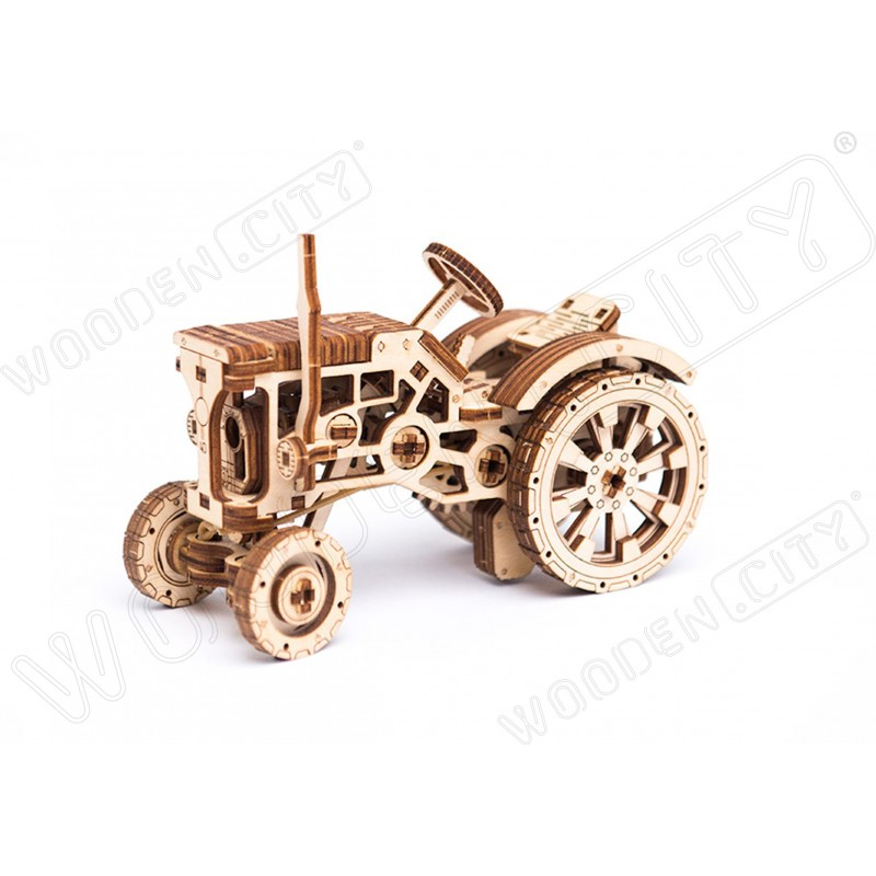 maquette tracteur agricole, Wooden City
