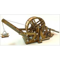 Esprit Maquette Maquette Médiévale fonctionnelle, grande grue à tambour Maquettes en bois