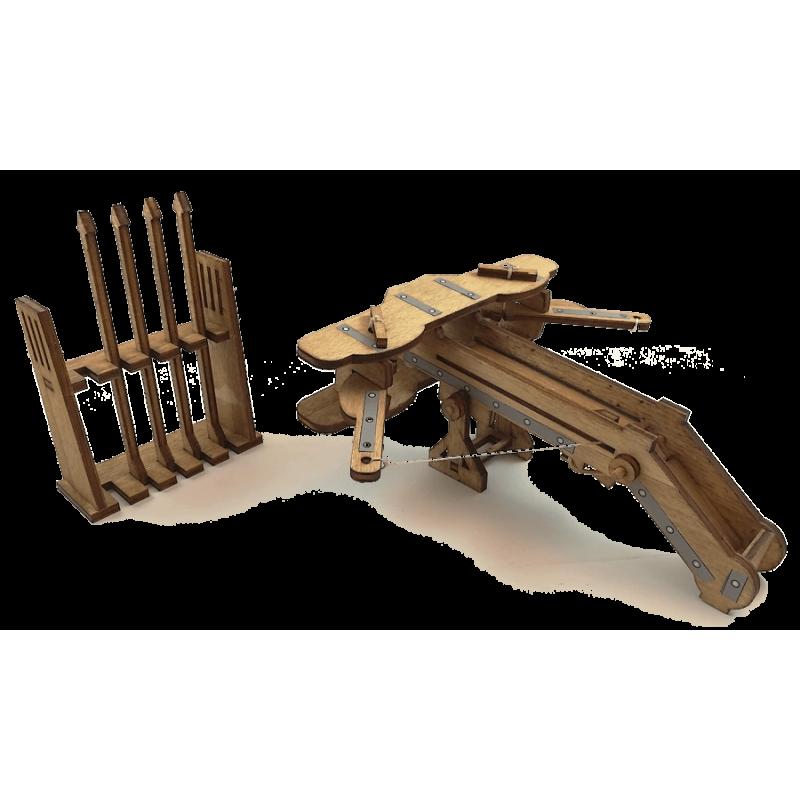 Esprit Maquette Maquette de Baliste Médiévale en Bois Maquettes en bois