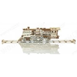 WOODEN.CITY Maquette en bois, locomotive et son tender, Wooden City Locomotives