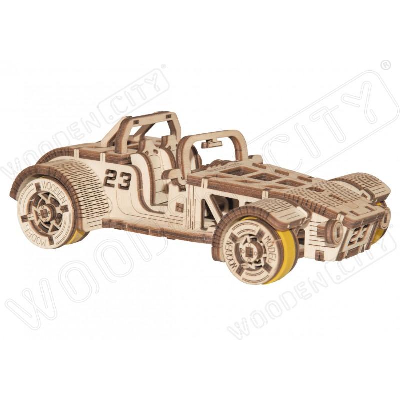 maquette de voiture, roadster, wooden.city, en bois