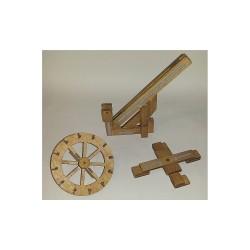 Esprit Maquette Maquette Féodale, Grue à Pivot Maquettes en bois