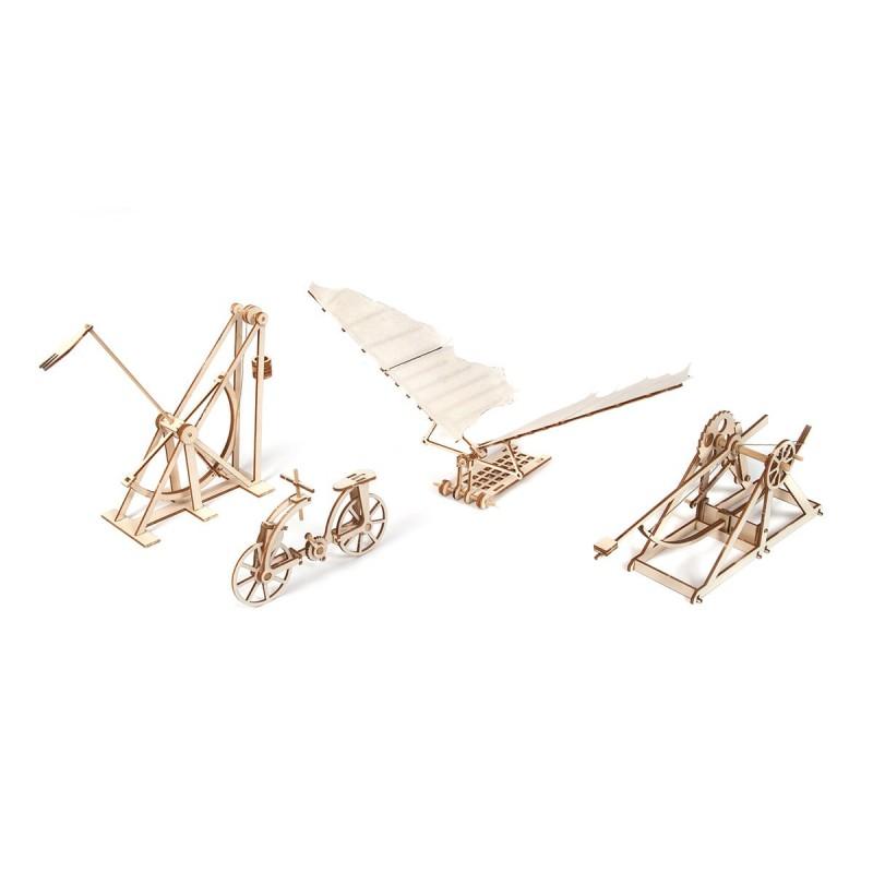 Léonard de Vinci, maquettes médiévales en bois, Occre