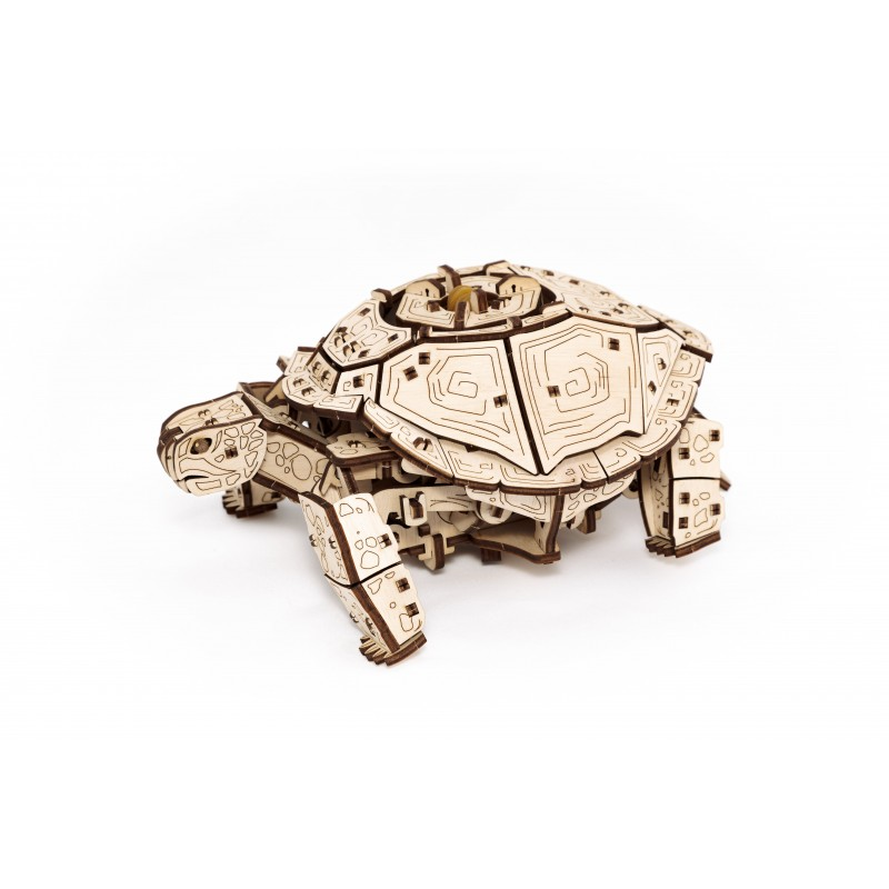 Puzzle 3d mécanique, la tortue, Eco Wood Art