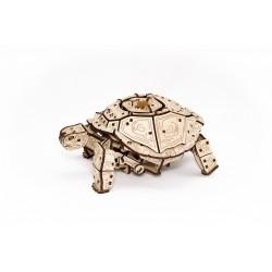 Eco Wood Art Puzzle 3d mécanique, la tortue, Eco Wood Art Puzzles 3d en bois