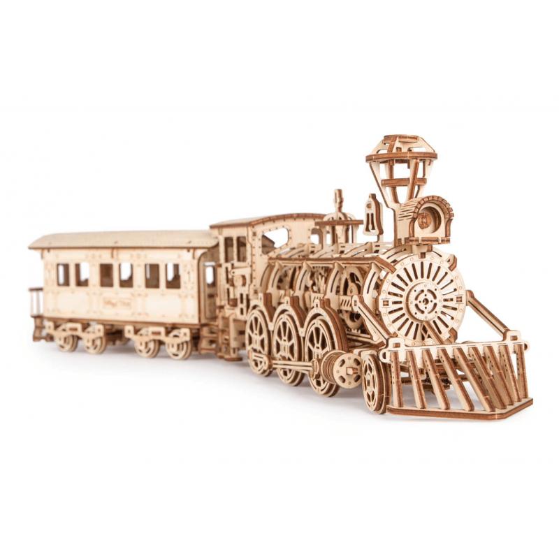 WOOD TRICK Maquette locomotive R 17 405 pièces, WoodTrick Puzzles 3d en bois