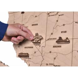WOOD TRICK Carte des Etats Unis, décoration murale Décoration