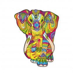 WOOD TRICK Puzzle Mandala en bois , Eléphant Splendide Puzzles en bois
