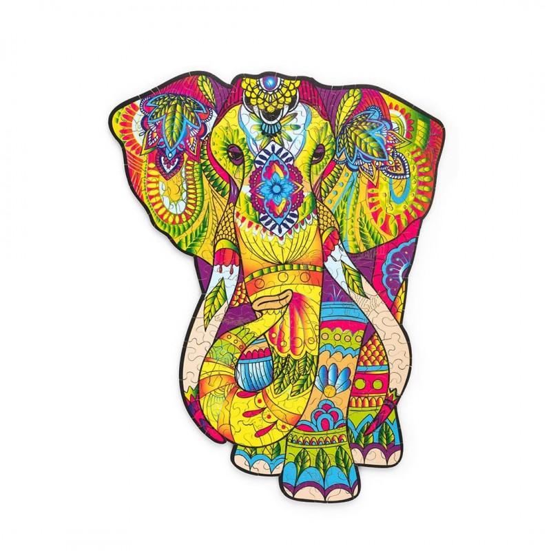 Puzzle en bois , Eléphant Splendide