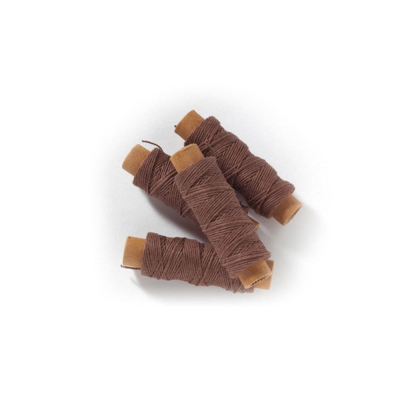 Fil de coton brun, 0,8 mm