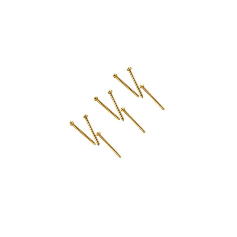 Clou en fer laitonné, 13 mm, Occre
