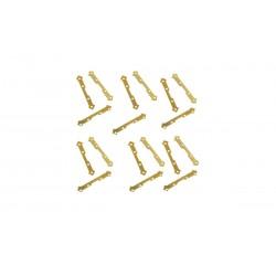 OCCRE Charnière plate 2,5x15 mm, en laiton Accastillages