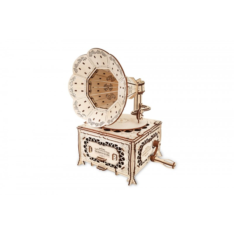 Eco Wood Art Gramophone steampunk Univers Steampunk