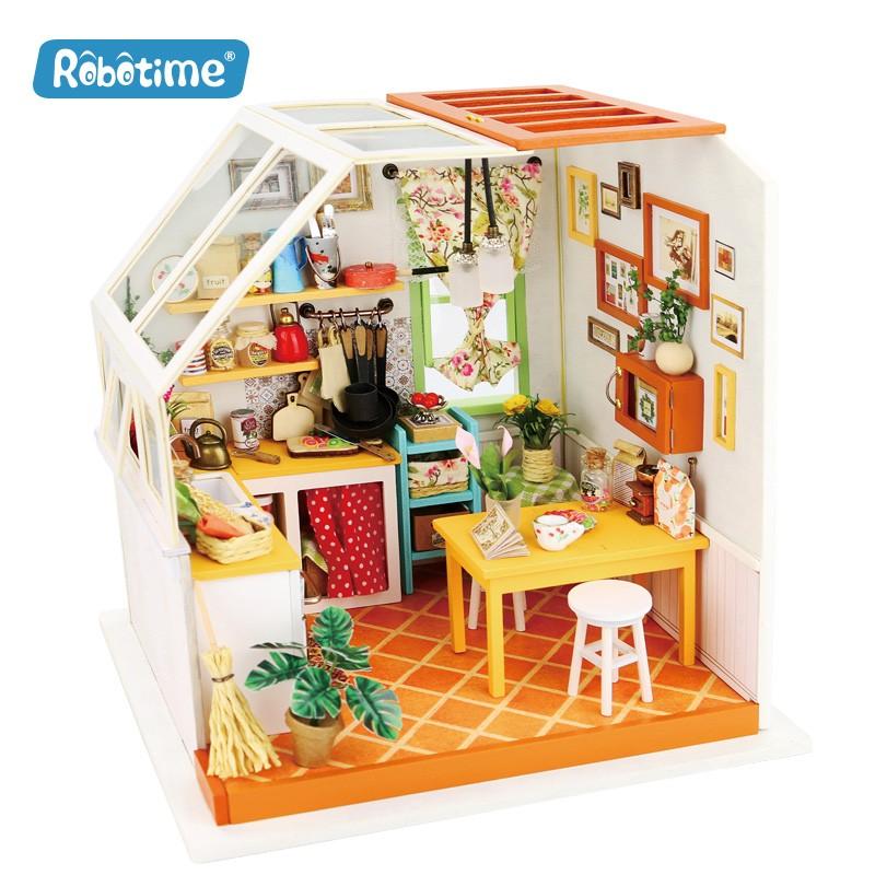 Robotime La cuisine de Jason, Diorama à assembler Accueil
