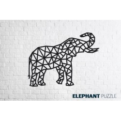 Eco Wood Art Eléphant, Décoration Murale Puzzles 3d en bois