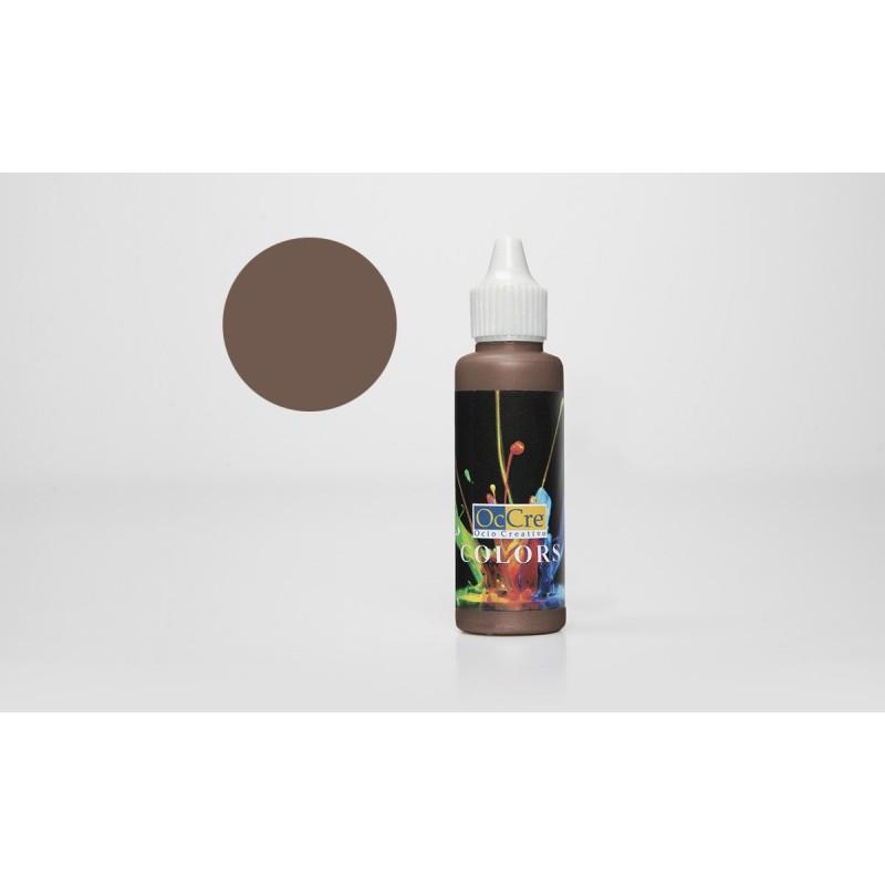 OCCRE Peinture acrylique, marron foncé,  pour maquettes, loisirs créatif. OUTILLAGE ET ACCESSOIRES