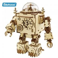 Orphéus le robot en bois