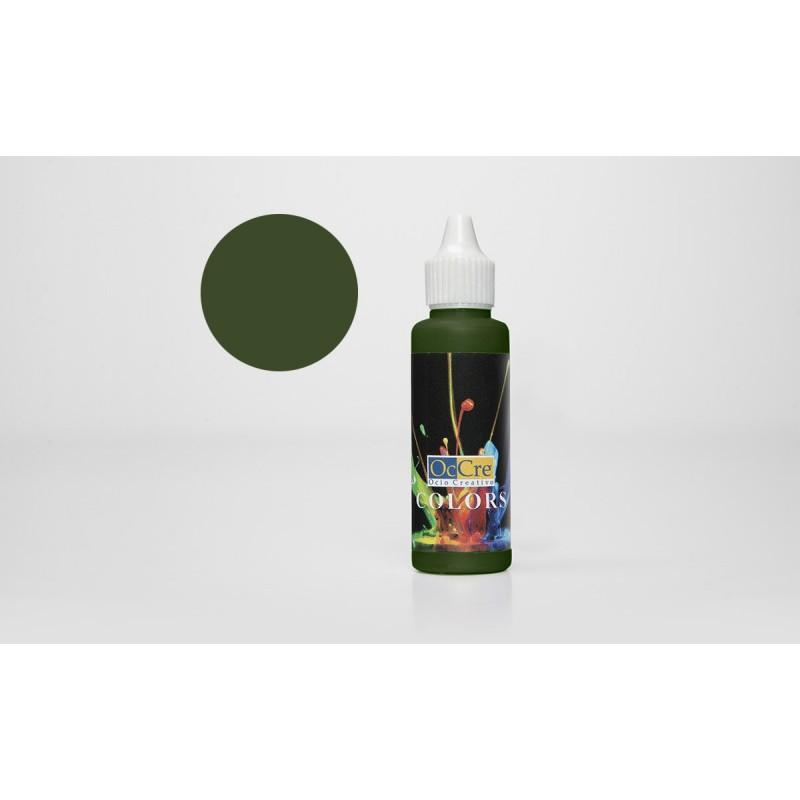 OCCRE Peinture acrylique, vert foncé,  pour maquettes, loisirs créatif OUTILLAGE ET ACCESSOIRES