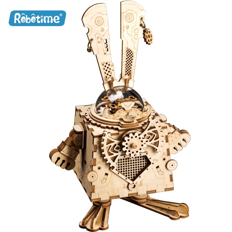 Robotime Bunny, boîte à musique steampunk, Robotime Univers Steampunk