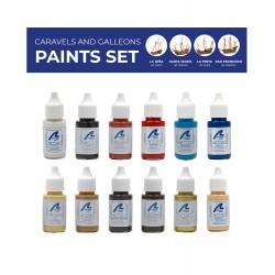 Artesania Latina Set complet de peintures acrylique pour Caravelles, galions Colles, teintures, peintures