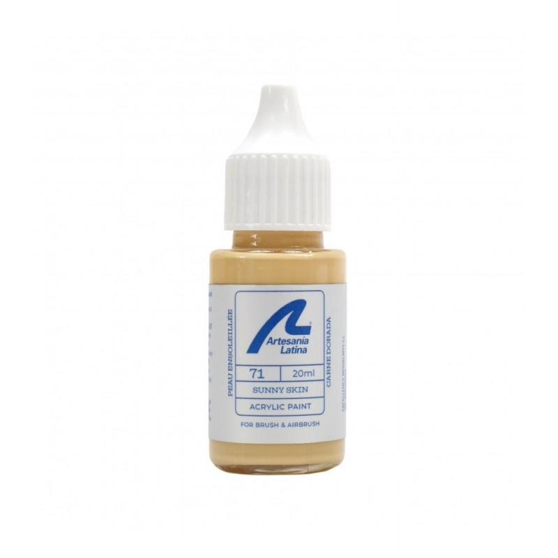 peinture acrylique couleur peau ensoleillée, 20 ml