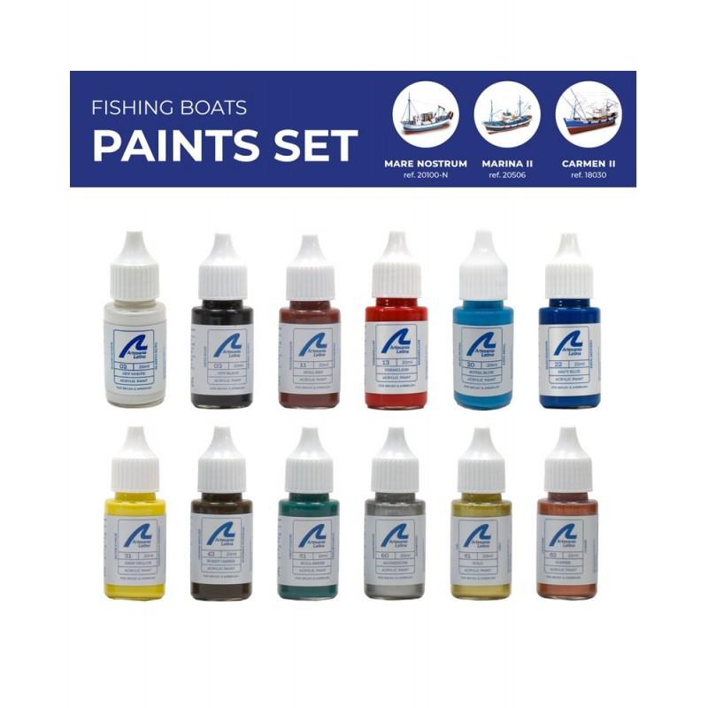 set de peinture pour bateaux de pêche
