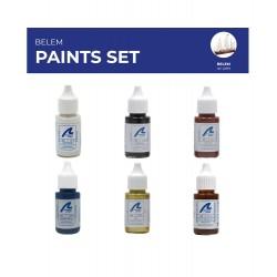 Artesania Latina Set de peintures et vernis pour le navire le Belem Colles, teintures, peintures