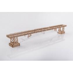Rails et pont pour la locomotive Veter Models, maquette 3D en bois